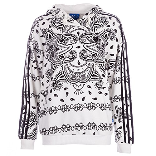 adidas Originals Women's Paisley Hoody Core 2 White