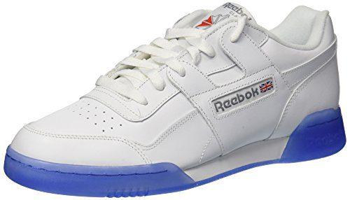 Reebok Men's Workout Plus Ice Sneaker, White/Flat Grey/Ice, 11 M US