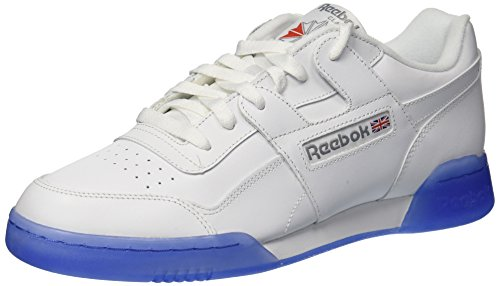 Reebok Men's Workout Plus Ice Sneaker, White/Flat Grey/Ice, 11 M US
