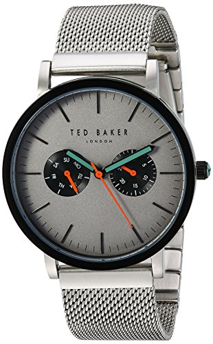 Ted Baker Men's 'Smart Casual' Quartz Stainless Steel Dress Watch, Color:Silver-Toned