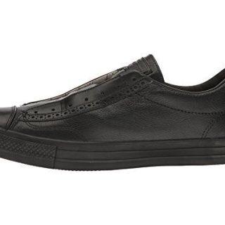 Converse by John Varvatos Leather Vintage Slip On Sneaker Black Mono (11.5 Women/9.5 Men M US)