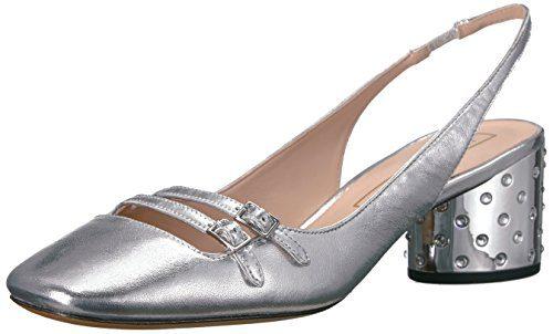 Marc Jacobs Women's Bette Sling Back Pump, Silver, 36 M EU (6 US)
