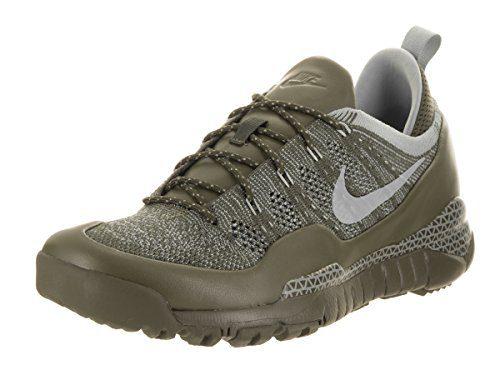 Nike Mens Lupinek Flyknit Low Cargo Khaki/Mica Green Casual Shoe 10 Men US