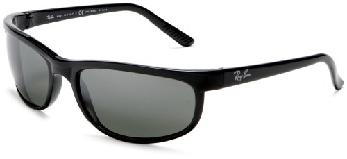 Ray-Ban Men Predator 2 Polarized Sunglasses, Black/Grey Mirror, 62mm