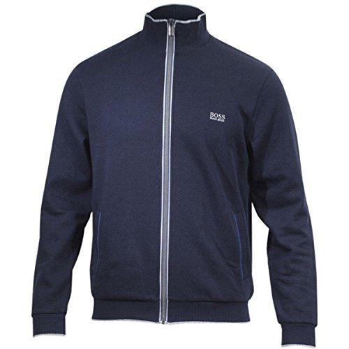 Hugo Boss Men's Authentic Long Sleeve Dark Blue French Terry Jacket Sz: S