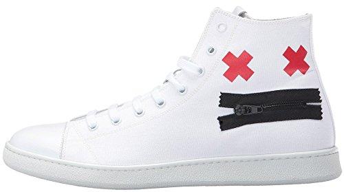 Marc Jacobs Men's Canvas Zip Face Fashion Sneaker (41 EU/8 US/7 UK)