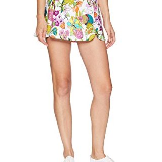 Trina Turk Recreation Women's Elastic Waist Sport Skirt, White, Extra Small