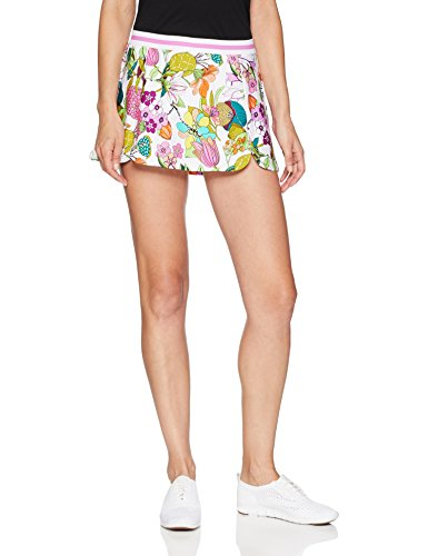 Trina Turk Recreation Women's Elastic Waist Sport Skirt, White, Extra Small
