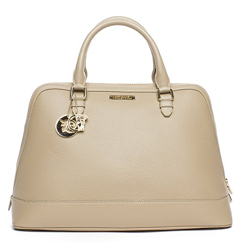 Versace Collection Women Leather Top Handle Satchel Handbag