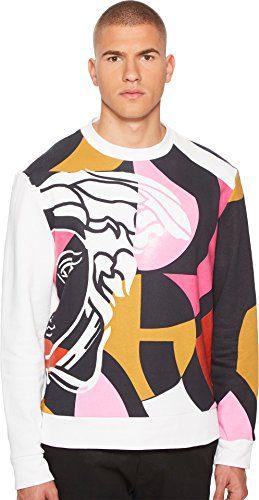 Versace Collection Men's Abstract Medusa Sweatshirt White Medium
