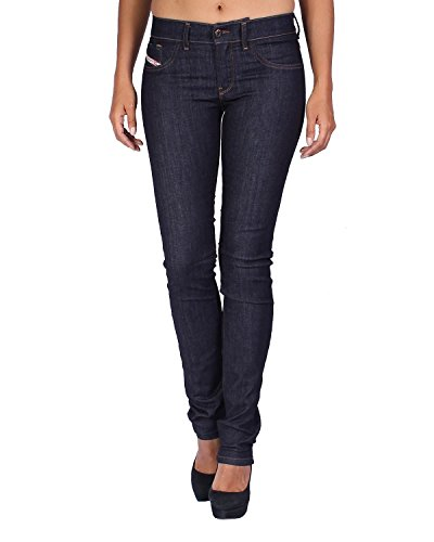Diesel Women's Jeans Livier - Super Slim Jegging - Blue (Navy), W23