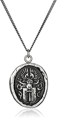 Pyrrha Talisman Men's Sterling Silver Defender Pendant Necklace, 22""