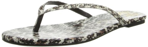 House of Harlow Women's Colton Flip Flop,Dots Snake Leather,10 M US