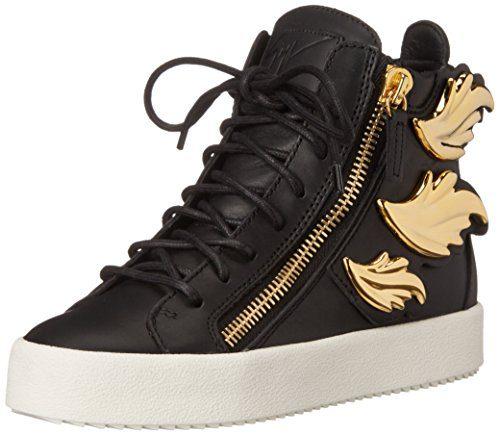 Giuseppe Zanotti Women's Fashion Sneaker, Nero, 8.5 UK/8.5 M US