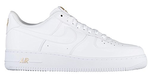 online store c4d11 5d609 NIKE Mens Air Force 1 Low 07 Crest Basketball Shoes White Metallic Gold-102