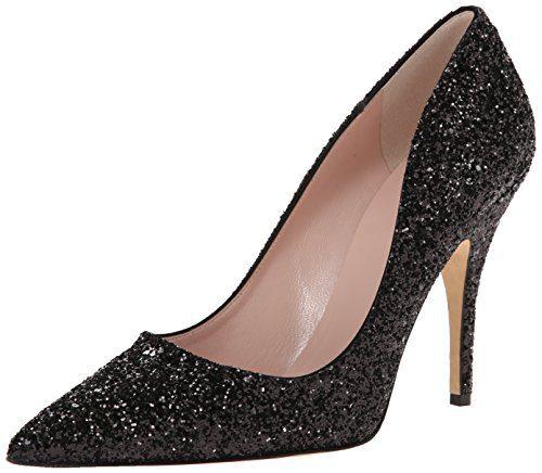 Kate Spade New York Women's Licorice Dress Pump, Black Glitter, 8.5 M US