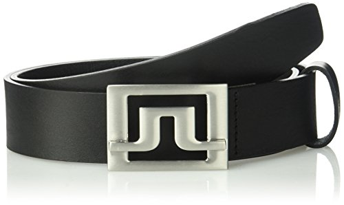 J.Lindeberg Men's Slater Pro Leather Belt, Black