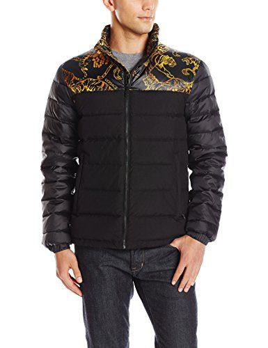 Versace Jeans Men's Jeans Puffer Jacket, Black, 54 (X-Large)