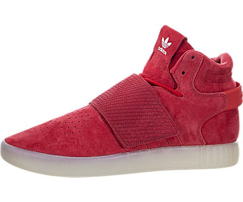 Adidas Mens Tubular Invader Fashion Sneakers Red Vintage White (9.5 (US))
