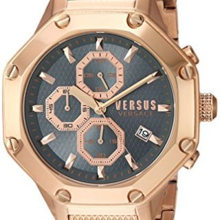 Versus by Versace Men's 'Kowloon' Quartz Tone and Gold Plated Casual Watch