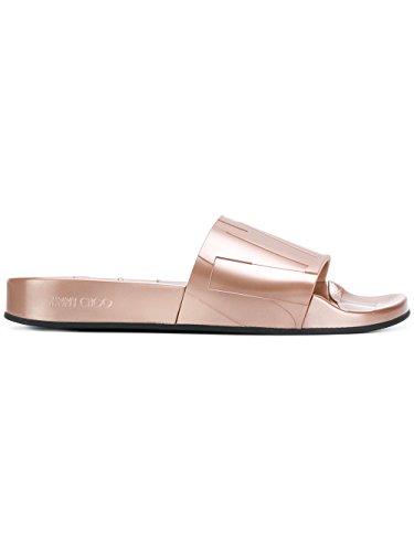 JIMMY CHOO Women's Reyfmru03 Pink Rubber Sandals