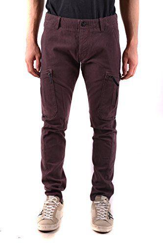 Stone Island Men's Burgundy Cotton Pants