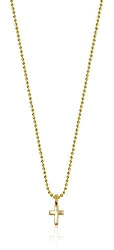 "Alex Woo Mini Additions 14k Yellow Gold Cross Pendant Necklace, 16"""