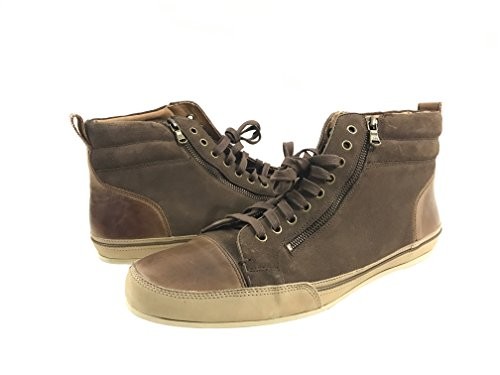 John Varvatos Men's Hightop Sneaker, Wood Brown, 13 M US