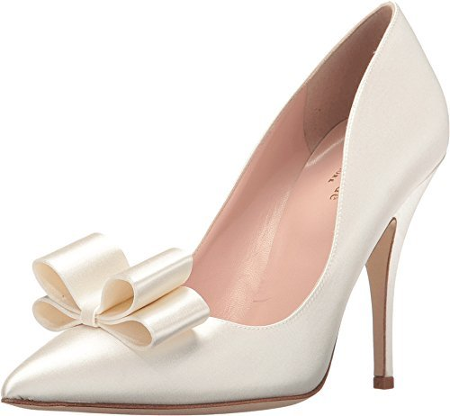 Kate Spade New York Women's Latrice Ivory Satin Pump 10.5 M