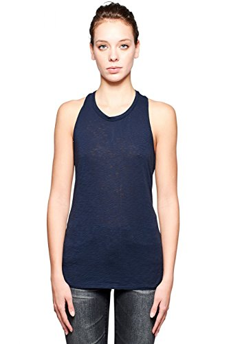 Stateside Women's Supima Slub Racerback Tank Top, Navy, Small