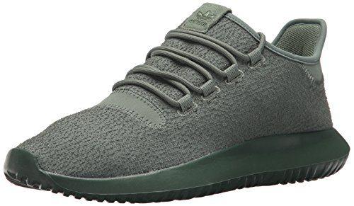 adidas Originals Men's Tubular Shadow Sneaker, Trace Green/Trace Green/Tactile Yellow, 8 Medium US