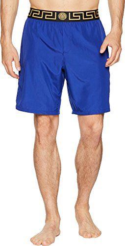 Versace Men's Beach Long Shorts Royal Blue 4