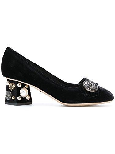 Dolce e Gabbana Women's Black Velvet Pumps
