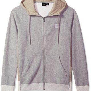 BOSS Orange Men's Zteen Hooded Zip-Jacket, Light/Pastel Grey, XL