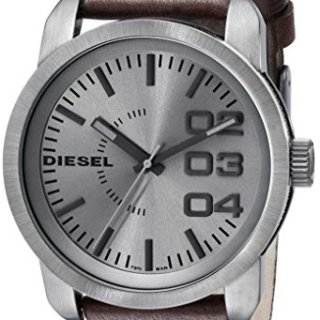 Diesel Men's Double Down Analog Display Analog Quartz Brown Watch