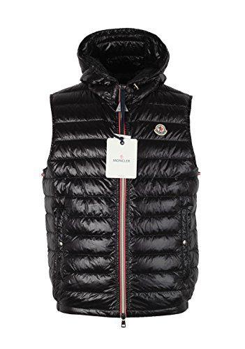 Moncler CL Black Gien Hooded Shell Gilet Vest Size 3/M/50/40 U.S.