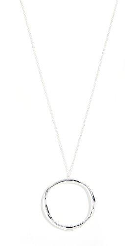 Gorjana Women's Quinn Long Adjustable Necklace, Silver, One Size