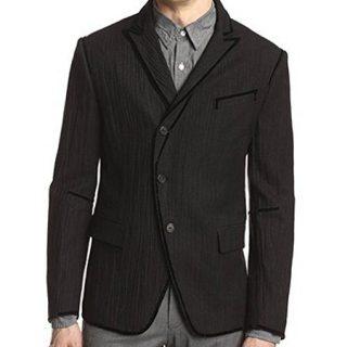 John Varvatos Collection Men's Black Wool Blend Blazer Size 40R