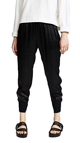 Enza Costa Women's Cuffed Jogger Pants, Black, 2