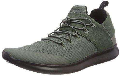 NIKE Men's Free 2017 Running Shoe (RiverRock-Black, 10)