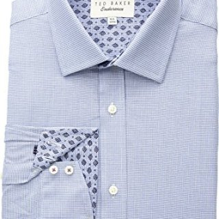 Ted Baker Men's Renton Endurance Dress Shirt Blue 15-32/33