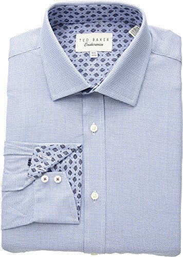 Ted Baker Men's Renton Endurance Dress Shirt Blue 15-32/33