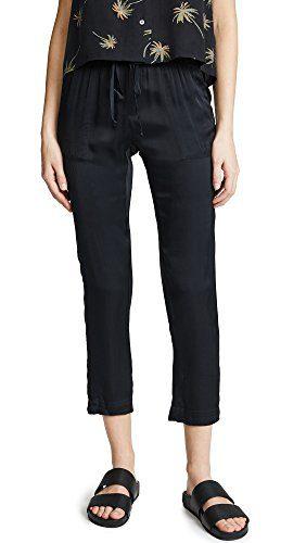 Enza Costa Women's Easy Pants, Black, 0