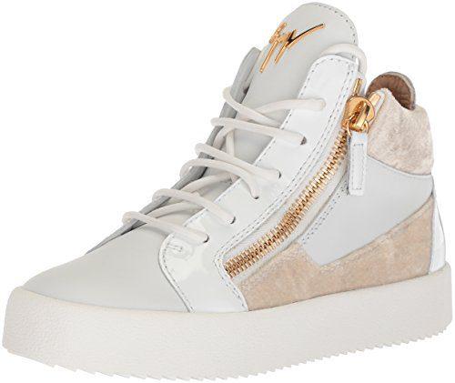 Giuseppe Zanotti Women's Sneaker, White/Black, 7 B US