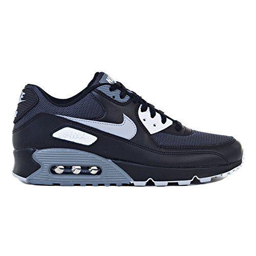NIKE Mens Air Max 90 Essential Running Shoes Black/Wolf Grey/Dark Grey Size 8