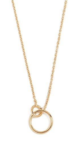 Gorjana Women's Wilshire Charm Necklace, Yellow Gold, One Size