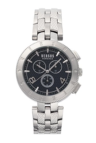 Versus by Versace Men's 'Logo Gent Chrono' Quartz Stainless Steel Casual Watch, Color:Silver-Toned