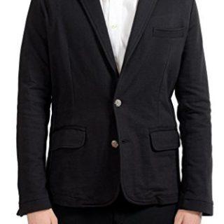 Versace Jeans Men's Black Two Button Blazer Sport Coat US L IT 52;