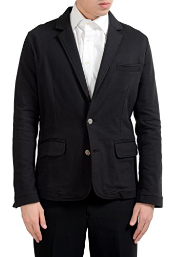 Versace Jeans Men's Black Two Button Blazer Sport Coat US L IT 52;