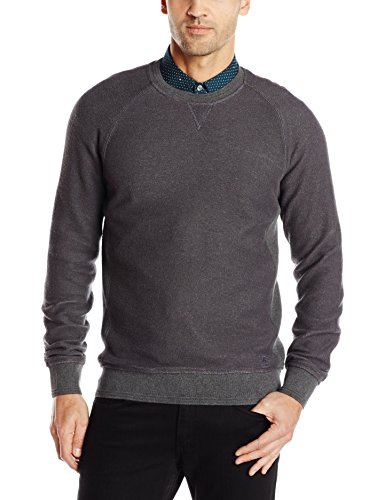 Original Penguin Men's Ls Reverse Terry Front Sweat, Asphalt, X-Large